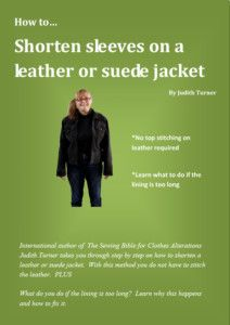 This method of shortening sleeves on a leather jacket means you do not have to top stitch!