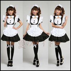 Inu x Boku SS Cute Princess Maid Installed Japanese Anime Cosplay Maid Uniforms