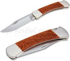 Buck 110 Leather Folding Hunter® Limited Edition 3-3/4 inch Plain Edge Blade
