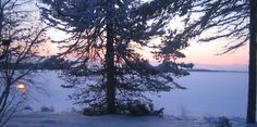 The view from my cottage in Kuhmo Finland on Christmas Photo: Raija Forsström Finland, Cottage, Homes, Celestial, Sunset, Cars, Christmas, Life, Outdoor