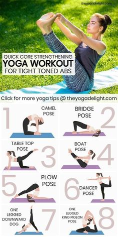 Beginner Yoga Workout For a Strong Core and Abs You have to try these yoga poses to get tight, toned abs! Your body will be summer ready with this core strengthening, ab tightening yoga workout. Beginner Yoga Workout, Pilates Workout, Yoga Workouts, Yoga For Toning, Tone Abs Workout, Beginner Yoga Routine, Daily Yoga Routine, Yoga Stretches For Beginners, Yoga Routines
