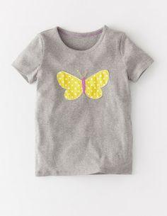 Ich habe das auf @BodenDirect entdeckt. T-Shirt mit Tupfenapplikation Grau Schmetterling