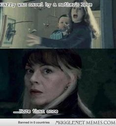 Harry was saved by a mother's love... twice. #harrypotter http://ift.tt/VWMHCz