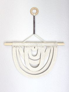 Macrame Wall Hanging Energy Flow no.22 by HIMO ART One por HIMOART