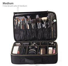 f15cf7ef963a Best Makeup Bags For Organization  1. ROWNYEON Portable EVA Professional Makeup  Case Makeup Train