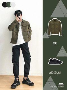 Trendy Mens Fashion, Korean Fashion Men, Stylish Mens Outfits, Teen Fashion Outfits, Korean Casual Outfits, Korean Outfit Street Styles, How To Wear Shirt, Outfits Hombre, Men Looks