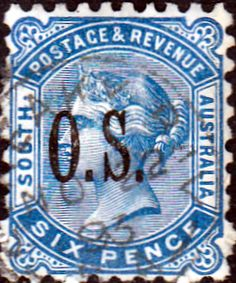 South Australia 1891 Queen Victoria O S Overprint SG O62 Fine Used SG 062 Scott O66  Other british Commonwealth stamps here