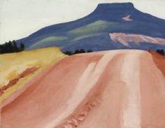 Georgia O'Keeffe, Road to Pedernal, 1941, oil on canvas