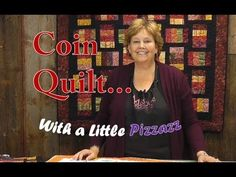 great way to use a jelly roll! The Coin Quilt with a Little Pizzazz