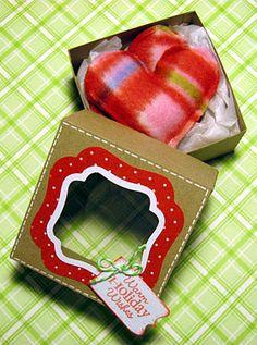 fun gift - box contains 2 small heart hand warmers - so cute