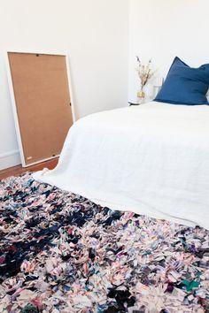 Moroccan Boucherouite rug in blue / Rag Rug/ par MaisonMenara