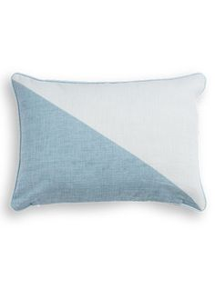 The Elbert Rectangular Cushion, in Pastel Blue. A geometric, 100% cotton cushion, designed by MADE Studio. £12. MADE.COM