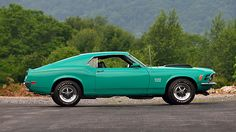 1970 Ford Mustang Boss 429 Fastback 1 of 52 Produced in Grabber Green presented as lot S28 at Harrisburg, PA 2015 - image2