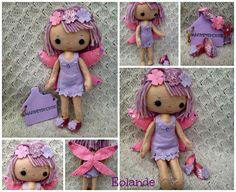 Handmade Felt Fairy Collectable Doll - Eolande The Purple Fairy -  Ready To Buy by HarveyshouseCrafts on Etsy