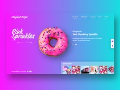 Doughnut Magic Web UI by Stephanie Post on Dribbble Web Banner Design, Web Ui Design, Design Blog, Creative Design, Web Banners, Design Design, Ads Creative, Stand Design, Graphic Design