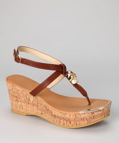 Take a look at this Tan Waverly Platform Sandal by Bucco on #zulily today!