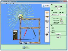 An electronics kit in your computer! Build circuits with resistors, light bulbs, batteries, and switches. Take measurements with the realistic ammeter and voltmeter. View the circuit as a schematic diagram, or switch to a life-like view.