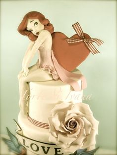 Pin Up vintage cake- I want this for my 40th this year!