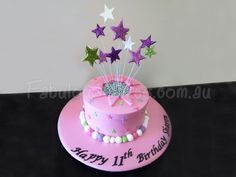 star theme cakes | ... cake with stars you are here home blue birthday cake with stars