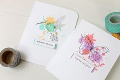 Stamp Away With Me: Hand Lettered Thanks and Flora & Fauna 2