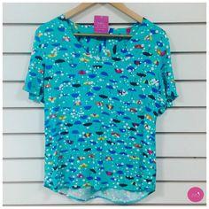 Guarda-chuvas coloridos nessa blusinha linda!!! #Vemprazas