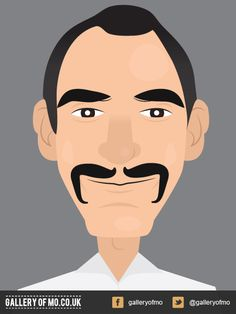 Portrait from 2011's Gallery of Mo. Greg Mitchell donated £10.00 to Movember and had a portrait created by Adam Campion. www.galleryofmo.co.uk