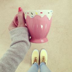 A CUPCAKE MUG!!!!!! ohmygoodness!!! If you find me one of these and buy it for me I will love you forever!!!!! :)