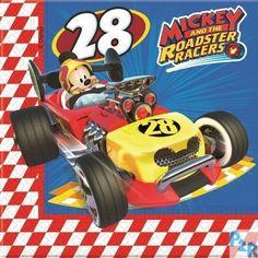 Guardanapos do tema Mickey Mouse Racers