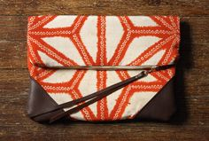 NOMAD Collection - STELLA Leather & Kimono Clutch