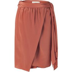 Vanessa Bruno terracotta silk wrap skirt