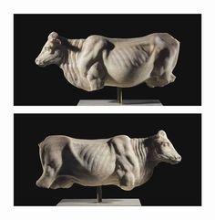 Roman marble cow, circa century century A. Famous Sculptures, Animal Sculptures, Roman Sculpture, Sculpture Art, Ancient Romans, Ancient Art, Greek Animals, Ancient Greek Sculpture, Life Size Statues
