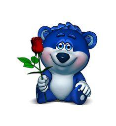 Cartoon Gifs, Animated Cartoons, Animated Gif, Gif Lindos, Love Smiley, Teddy Bear Cartoon, Teddy Bear Pictures, Cute Love Gif, Good Morning Gif