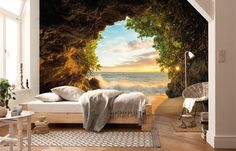 Hide Out Wall Mural by Komar is a full size wall mural 12 ft 1 in x 8 ft 4 in. Multiple panels. Paste included. Buy online today. Arlington, TX