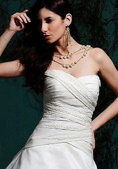 Amazing Natural Waist Floor Length Sweetheart Taffeta Court Train Bridal Dress - Lunadress.co.uk