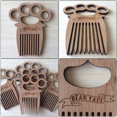 Morning making Duster Combs for the Beard Barons of Brighton @areyoubearface #knuckleduster #beard #beardcomb #beardlife #barberlife #lasercutting #laseretched #clearcutcreation - www.itsclearcut.com