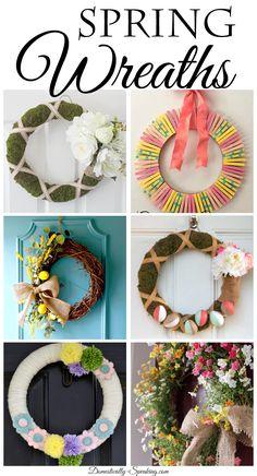 DIY Spring Wreaths Gorgeous spring wreaths you can make!