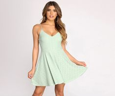 Casual Work Dresses, Hoco Dresses, Dresses For Sale, Dress Outfits, Dresses For Work, Skater Dress Homecoming, Skater Style Dress, Ribbed Knit Dress, Professional Attire