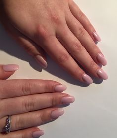 Baby pink gell Nails