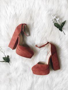 Evita Marsala Heels