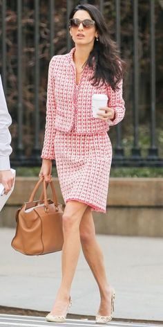 11 Chic Amal Clooney Looks to Inspire Your Work Wardrobe - April 15, 2015 from…