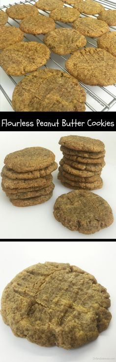 Flourless Peanut Butter Cookies. These cookies have no flour and no butter, but are loaded with protein. http://www.drsarasolomon.com/peanut-butter-cookies/