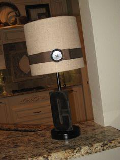 Lamp with Burlap Shade