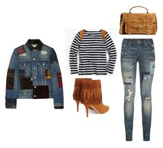 """""""Outfit Idea by Polyvore Remix"""" by polyvore-remix ❤ liked on Polyvore featuring moda, J.Crew, Polo Ralph Lauren, Aquazzura, Proenza Schouler y Junya Watanabe"""