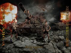 Never Surrender - background with multiple layers of rocks, tanks, helicopters, and explosions! If you are looking to give your team an experience then this is a hit! Many other sports templates on my website - http://shirkphotography.com/for-photographers/products/sports-templates/?product_page=1 Unfortunately not available to photographers within 200 miles of our studio.