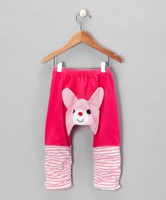 Take a look at this KAZOO Dark Pink Bear Pants - Infant on zulily today!