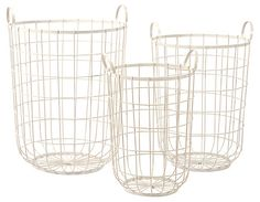 One Kings Lane - Rustic Charms - Asst. of 3 Dylan Wire Storage Baskets