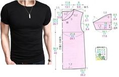 Men's tight t-shirt, pattern instructions