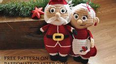 Christmas ragdoll Mrs. Santa Claus crochet free pattern ⋆ Passionatecrafter
