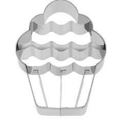 Cupcake Jelly Ausstecher mit Innenprägung 9 cm Edelstahl