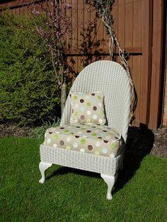 Dajon Designs: Revamp Lloyd Loom Nursing Chair